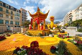MENTON, FRANCE - FEBRUARY 20: Lemon Festival (Fete du Citron) on the French Riviera.The theme for 20