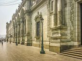 Neoclassical Style Building In Plaza Mayor In Peru