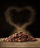 Coffee love with clipping path