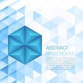 Triangular background. Vector illustration