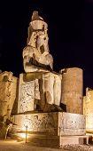stock photo of ramses  - Figure of Ramses II in Luxor Temple  - JPG