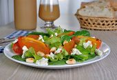 Light Salad With Persimmon