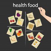 Health Food On The Blackboard