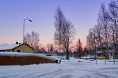 View of small swedish town