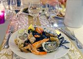 New Year Dinner In Evian-les-bains In France