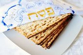 picture of slavery  - Traditional Jewish Matzo sheet on a Passover Seder table - JPG