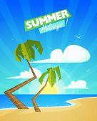 Summer Cartoon Background