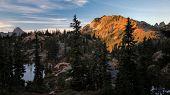 Alpine evening Rampart Ridge