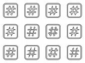 image of hashtag  - Icon Set of hashtags - JPG