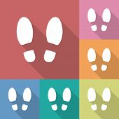 image of footprint  - Shoe prints or Footprint icon - JPG