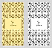 Set of template vintage greeting card, invitation, wedding card