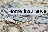 Home Insurance Text On Piece Of Paper