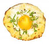 Egg Filled Baked Potato