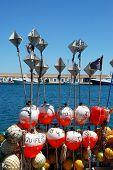 Fishing marker buoys, Carboneras.