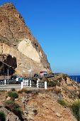 Coastroad around mountains, Roquetas de Mar.