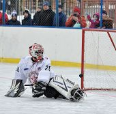 Goalkeeper Playing Sledge Hockey