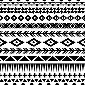 Tribal Striped Seamless Pattern.
