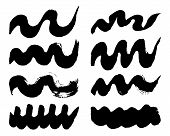 image of stroking  - Set of vector grunge brush strokes for design - JPG