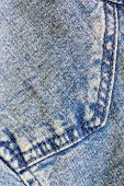 Detail of  Blue jeans texture background