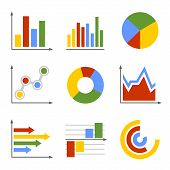 Color Business Graph and Chart Set