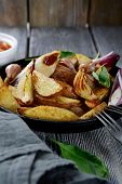 Roasted Potatoes With Spices And Sauce