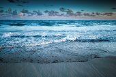 Dramatic Sea Landscape, Atlantic Ocean Coast. Toned Photo