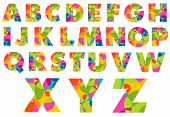 Alphabet Colorful Letters