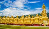 pic of buddha  - Golden Buddha at Buddha Memorial park Nakorn nayok Thailand - JPG