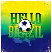 Hello Brazil poster.