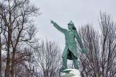 stock photo of firefighter  - Firefighter memorial in Buffalo - JPG