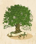 foto of sketche  - Arbor day poster in vintage style - JPG