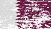 pic of qatar  - Flag of Qatar with old texture - JPG