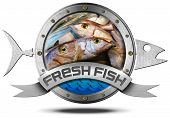Fresh Fish - Metal Icon