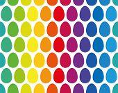 Easter Eggs Seamless Rainbow Pattern