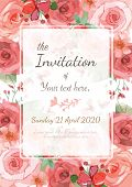 image of flourish  - Flower wedding invitation card save the date card greeting card - JPG