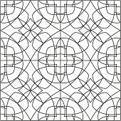 Tile black and white vector mosaic pattern