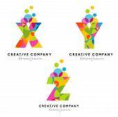 Creative Alphabet Letters Logo