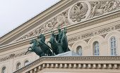 Decor Pediment Of The Bolshoi Theatre