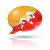 Bhutan Flag Speech Bubble