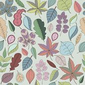 Seamless pattern of leaf