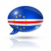 Cape Verdean Flag Speech Bubble