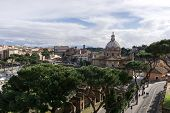 picture of emanuele  - Panorama view of Rome from rooftop of Victor Emanuele II Monument - JPG