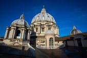 Saint Peters Basilica Dome Up Close