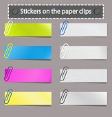 Stickers On The Paper Clips.