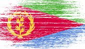 foto of eritrea  - Flag of Eritrea with old texture - JPG