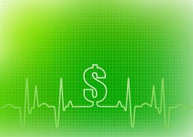 picture of ekg  - Abstract green graphic of EKG - JPG