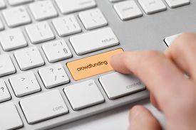 foto of keypad  - Crowdfunding concept - JPG