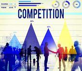 picture of competition  - Competition Competitive Marketing Race Solution Concept - JPG