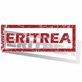 stock photo of eritrea  - Outlined red stamp with country name Eritrea - JPG