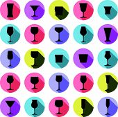 stock photo of champagne color  - Alcohol theme vector icon - JPG